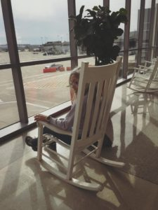 Attente dans un rocking-chair